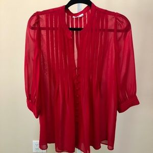 Joie Sheer Red Blouse (S)
